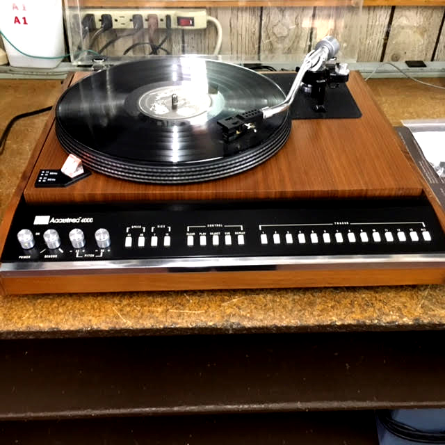 Recently Restored ADC Accutrac 4000 With Remote And Original Record That Plays 33's/45's.