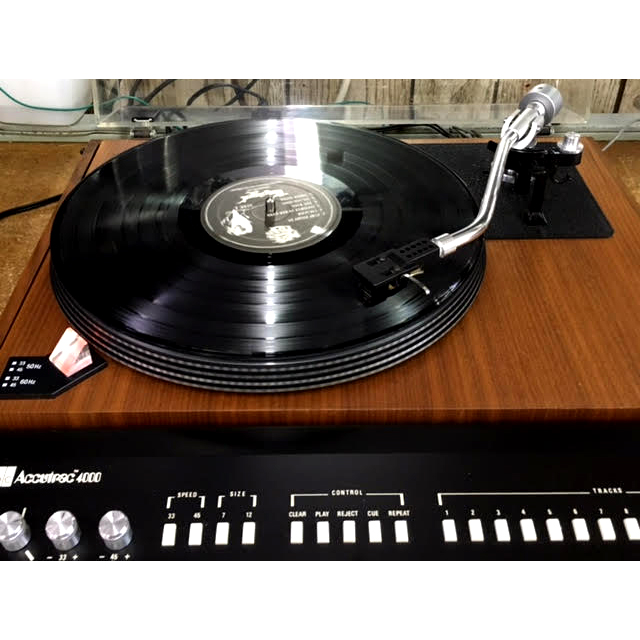 Recently Restored ADC Accutrac 4000 With Remote And Original Record That Plays 33's/45's And Is Not Priced.