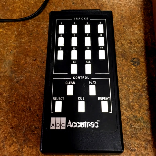 Recently Restored ADC Accutrac 4000 With Remote And Original Record That Plays 33's/45's. (The Remote)